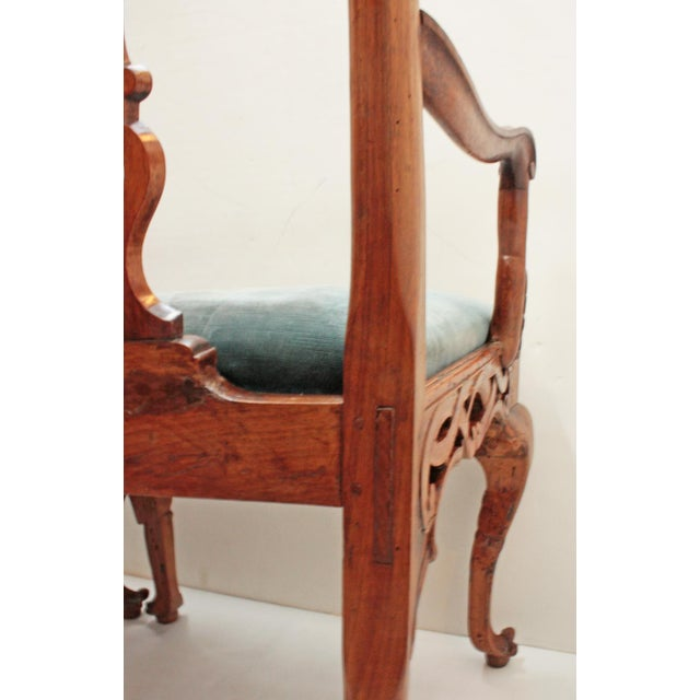 18th century Continental Chair Back Settee in the George II Taste For Sale - Image 5 of 9