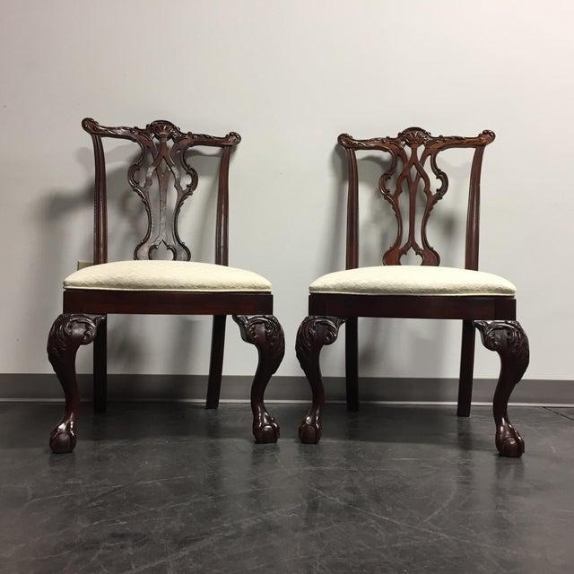 Thomasville Mahogany Collection Ball & Claw Dining Chairs - A Pair - Image 2 of 11