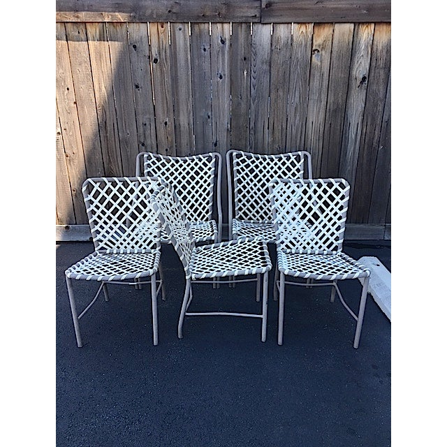 Vintage Brown Jordan Patio Chairs - Set of 5 For Sale In New York - Image 6 of 8