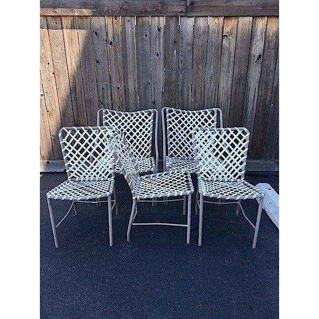 Vintage Brown Jordan Patio Chairs - Set of 5 - Image 6 of 8