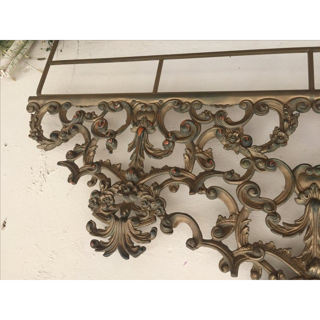 Baroque-Style Metal King Headboard - Image 6 of 6