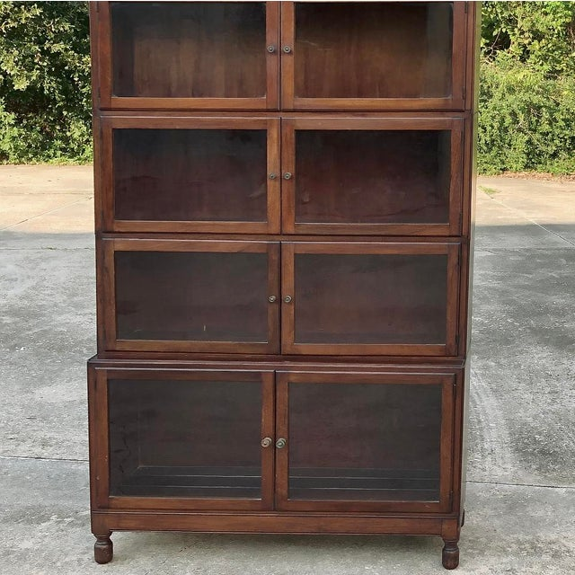 Brown Antique English Mahogany Bookcase ~ File Cabinet For Sale - Image 8 of 12