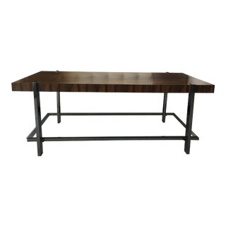 Rosewood & Chrome Cocktail Table For Sale