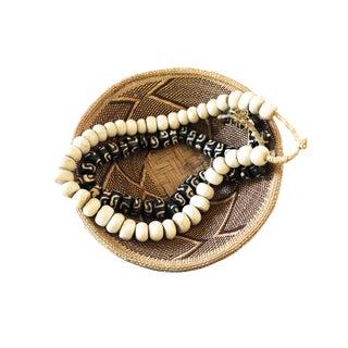 African Jumbo Bone Trading Beads Set of 2 For Sale