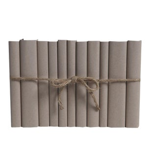 Modern Khaki ColorPak - Decorative Books Wrapped in Parchment For Sale