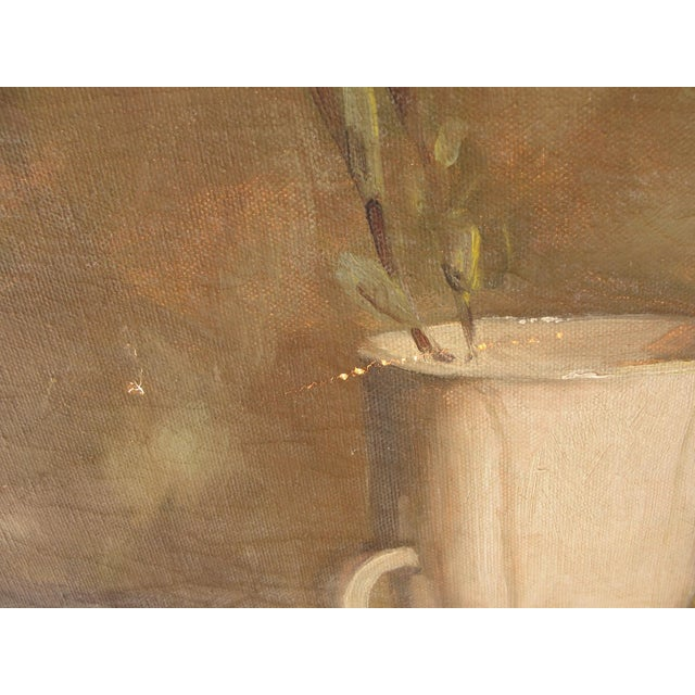 Mid-Century Modern Oil on Canvas Still Life For Sale - Image 9 of 10