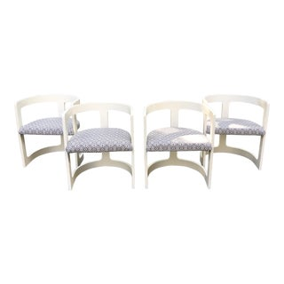 Mod Wishbone Back Bentwood Barrel Chairs - Set of 4