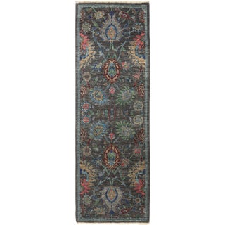 """Iksan, Eclectic Area Rug - 2' 8"""" X 8' 2"""" For Sale"""