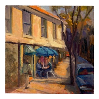 """""""32nd Street, Highlands Scene"""" Original Painting by Frances Gottlieb For Sale"""