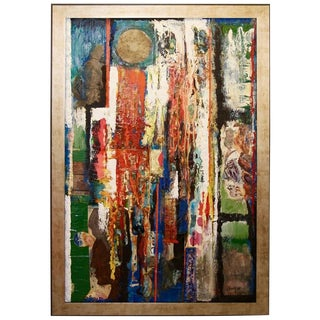 George Dergalis 1998 Mixed-Media on Acid Free Board Newly Framed For Sale