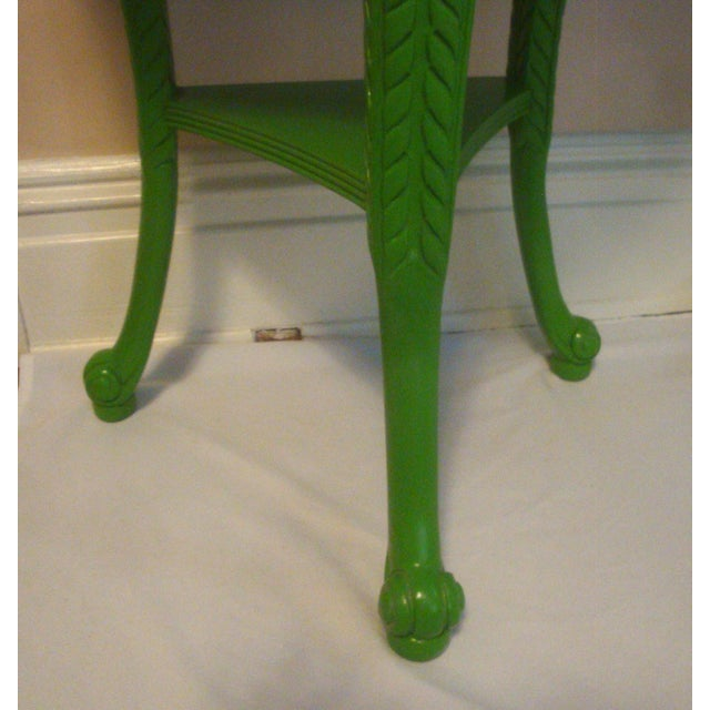 Metal Pair Feather Plume Nightstands Side Tables Prince of Wales For Sale - Image 7 of 11