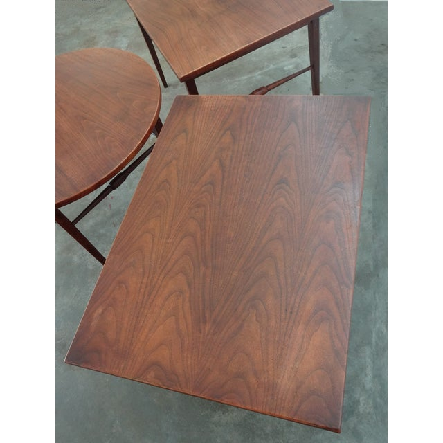 Danish Modern Wooden Side Tables - A Pair - Image 6 of 6