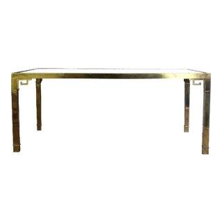 Late 20th Century Vintage Italian Mastercraft Brass Dining Table