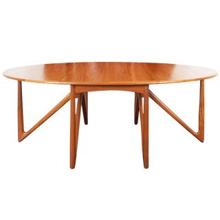 "Danish Teak ""Gateleg"" Drop Leaf Dining Table by Kurt Østervig For Sale"