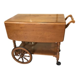Late 20th Century Vintage Ethan Allen Tea Cart For Sale