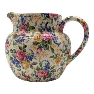 James Kent Ltd. Rosalynde Floral Pitcher For Sale