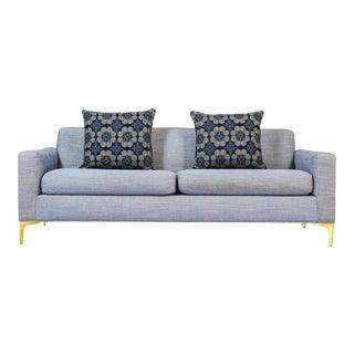 Mid-Century Thayer Coggin Sofa, Thayer Coggin Sofa, Vintage Sofa, 1970's Sofa, Line Sofa, Blue Sofa For Sale