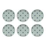 Image of Chairish x The Muddy Dog Stars Outdoor Plates, Mist, Set of 6 For Sale