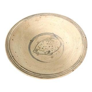 Antique Southeast Asian Ceramic Fish Bowl Thailand Sukhothai Period For Sale