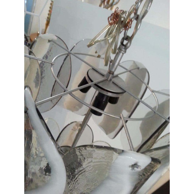 Contemporary Mazzega Murano Glass Chandelier For Sale - Image 3 of 10