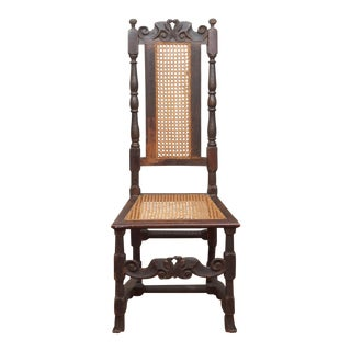 17th Century Cane and Oak Side Chair For Sale