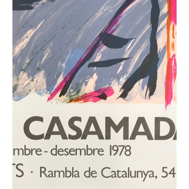 1978 Alberto Rafols Casamada Joan Prats Gallery Poster Lithograph For Sale - Image 4 of 5