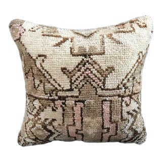Faded Tribal Turkish Organic Wool Pillow Cover For Sale