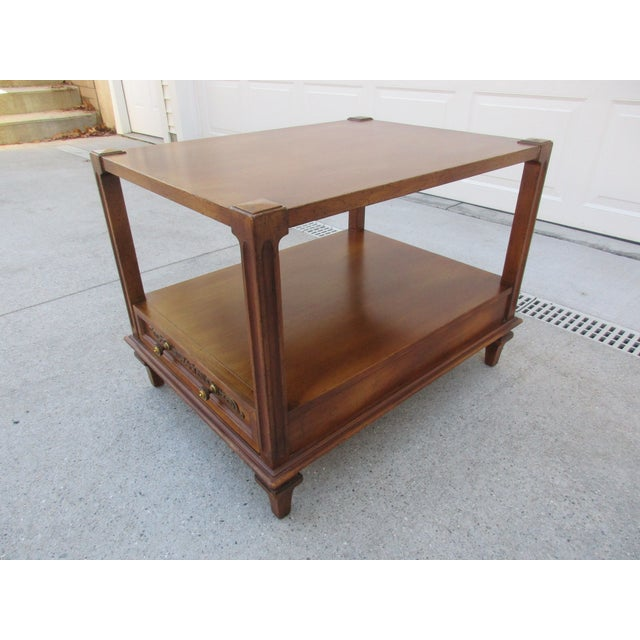 Mid-Century Modern Fine Arts Furniture Co. Two-Tiered Side Table For Sale - Image 6 of 11