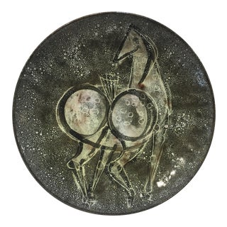 Alfaraz Pottery Mid Century Horse Charger For Sale