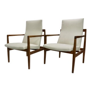 1960s Vintage Jens Risom Lounge Chairs- a Pair For Sale