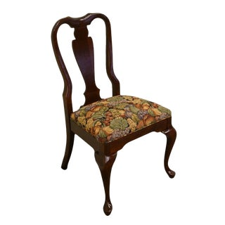 Cresent Solid Cherry Queen Anne Style Dining / Side Chair For Sale