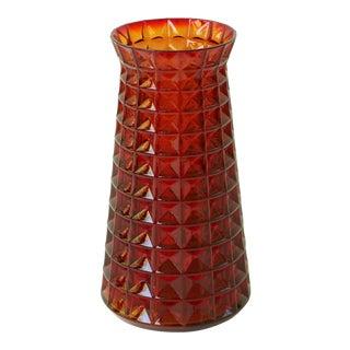Paul Kedelv Reijmyre Waffle Glass Vase For Sale
