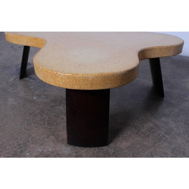 1950s Amoeba Cork Top Coffee Table by Paul Frankl For Sale - Image 5 of 10