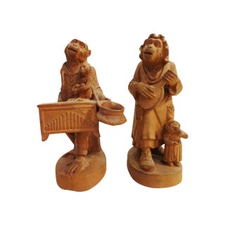 Vienna Terracota Monkey Figures - A Pair For Sale