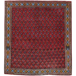 """Vintage Persian Kashan Rug – Size: 2' 3"""" X 2' 5"""" For Sale"""