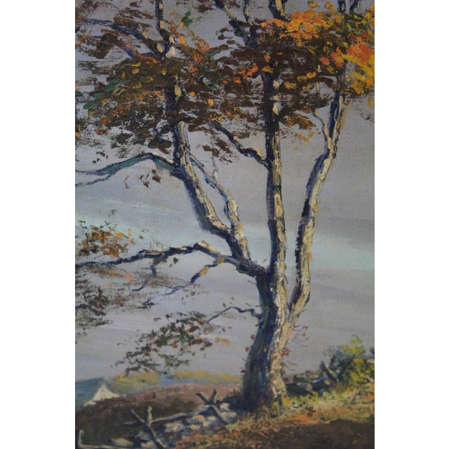 "Caddell Fall Tree ""Golden Shaft"" Oil Painting For Sale In New York - Image 6 of 7"