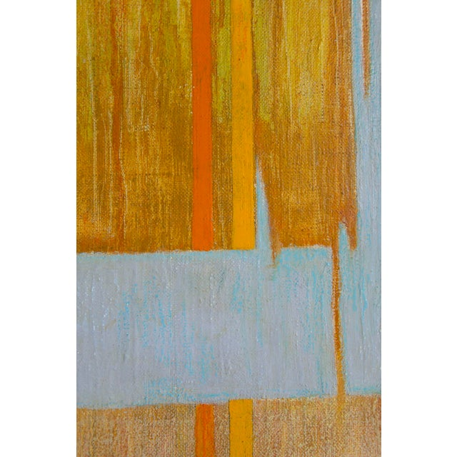 Orange Large Mid Century Abstract Oil Painting on Linen by Listed Artist For Sale - Image 8 of 9