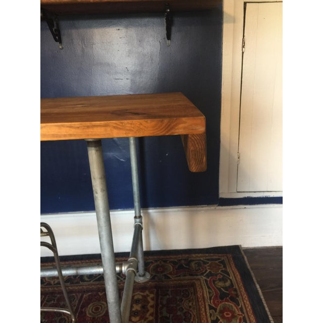 2010s Rustic Sit/Stand Desk & Chairs - Set of 3 For Sale - Image 5 of 8