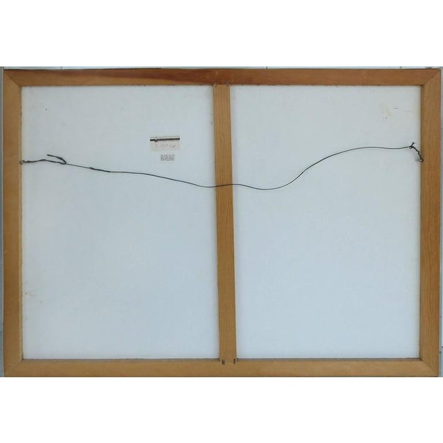 20th Century Handmade Paper Wall Sculpture Incased in Acrylic For Sale - Image 10 of 11