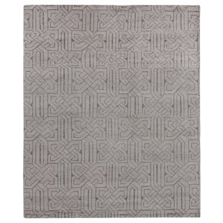 Cambrai Flatweave WoolSilver Rug - 9'x12' For Sale