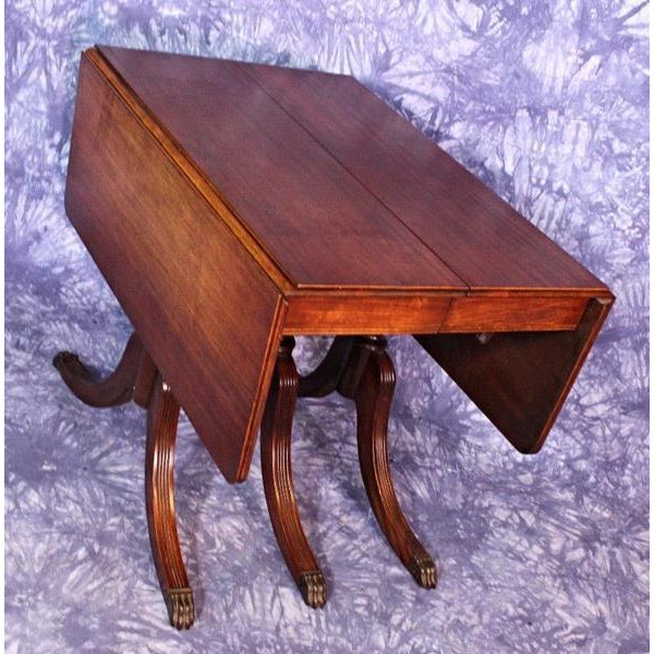 743820f3705b 1930 Duncan Phyfe Antique Mahogany Drop Leaf Dining Table For Sale In New  York - Image