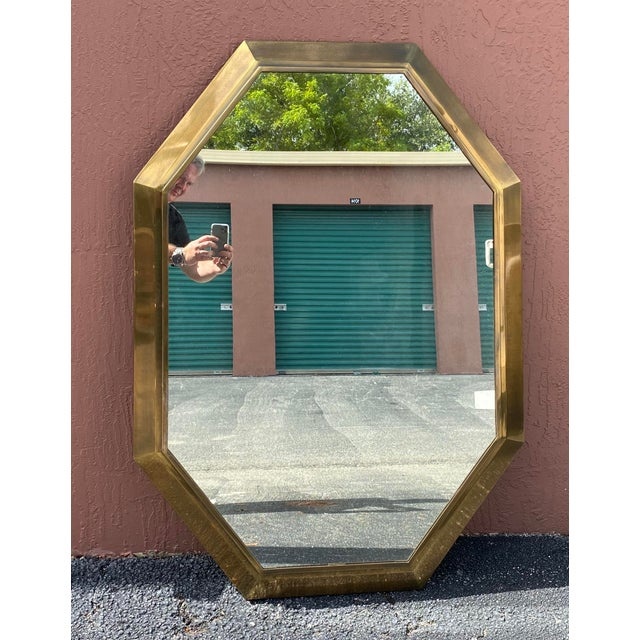 Vintage Mastercraft Brass Console Mirror For Sale In Miami - Image 6 of 6