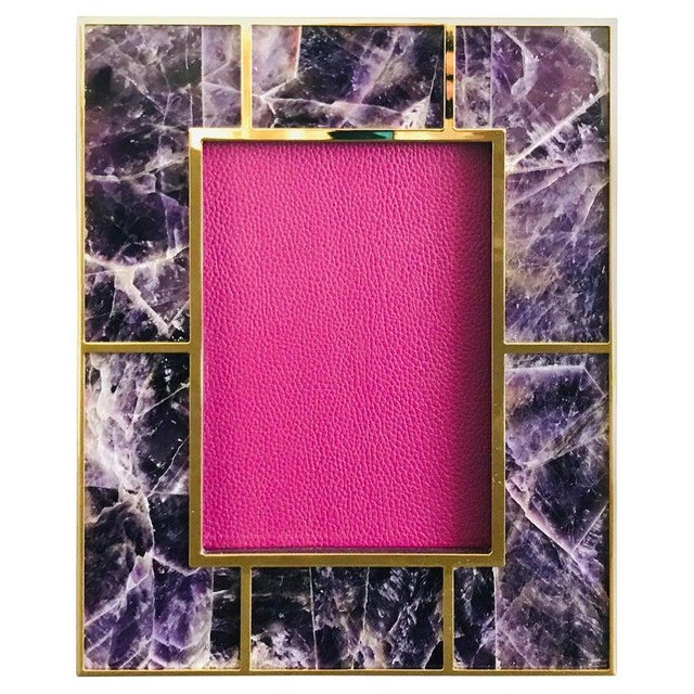 Metal Amethyst Photo Frame by Fabio Ltd For Sale - Image 7 of 7