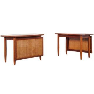 Danish Modern Teak Side Tables by Peter Hvidt For Sale