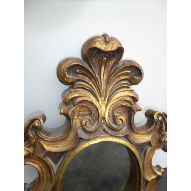 Vintage Syroco Gold Floral Wall Mirror - Image 8 of 11
