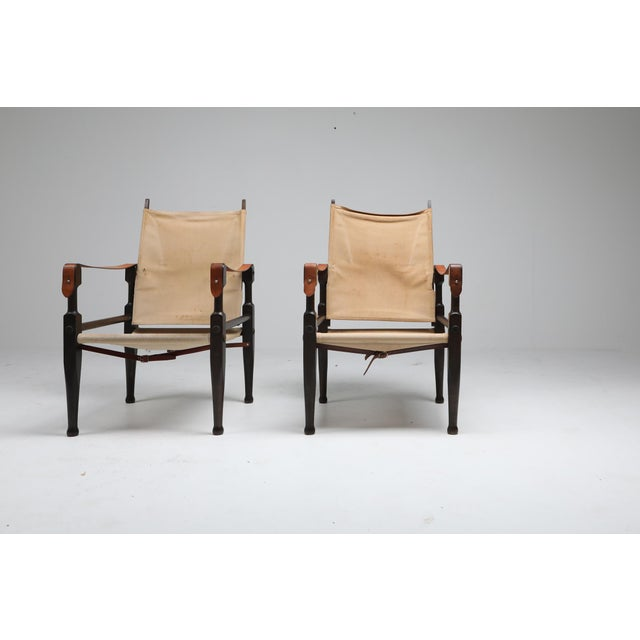 Camel Safari Chairs Designed by Kaare Klint for Rud Rasmussen - 1960s For Sale - Image 8 of 13