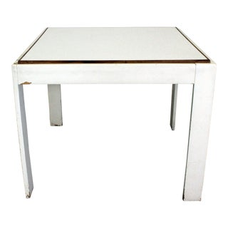 Mid-Century Danish Modern Knoll Style White Game Table For Sale