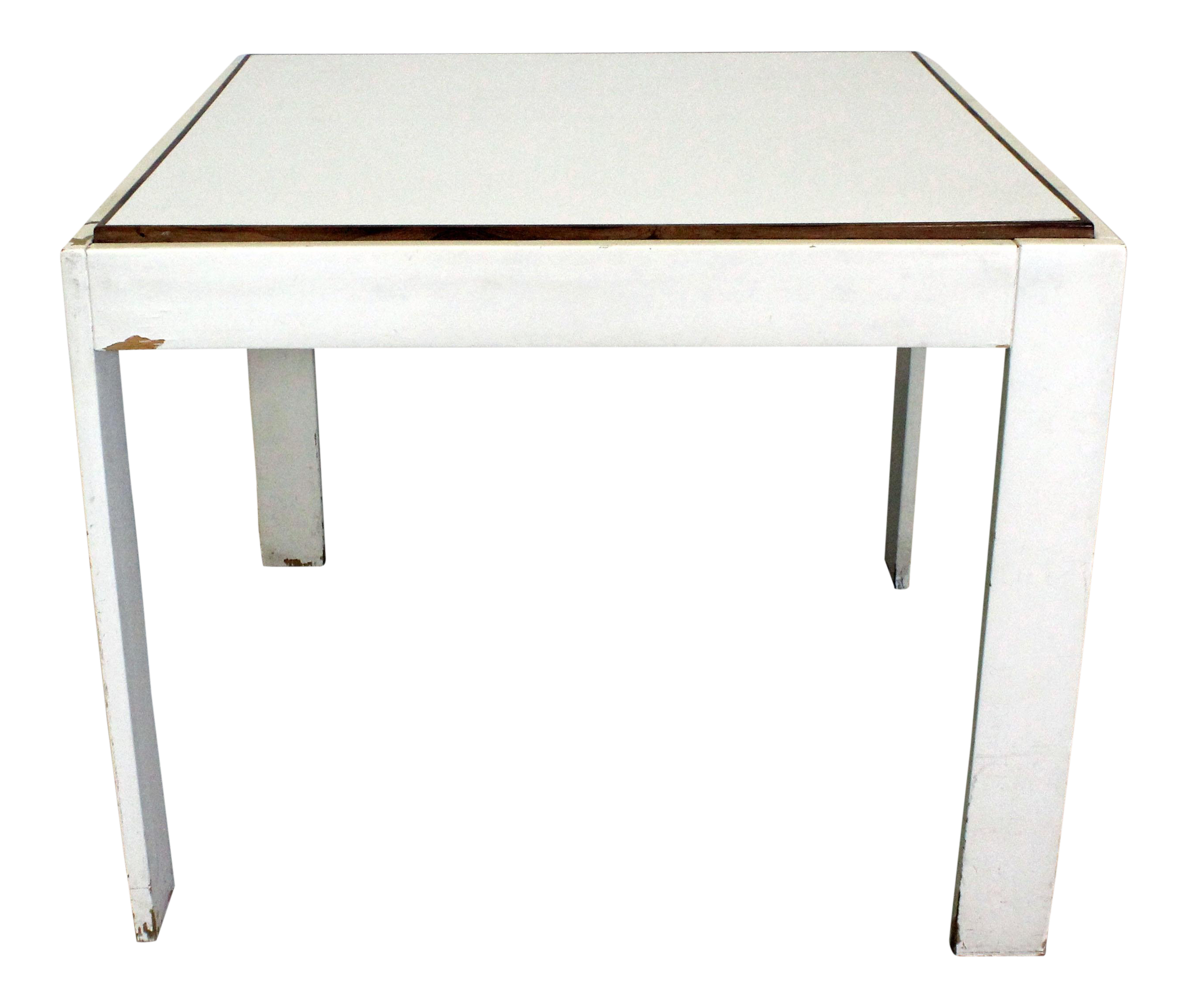 Mid Century Danish Modern Knoll Style White Game Table