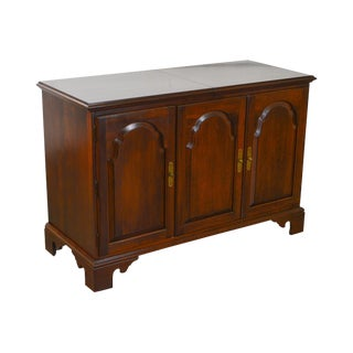 Ethan Allen Georgian Court Collection Solid Cherry Console Stereo Entertainment Cabinet For Sale