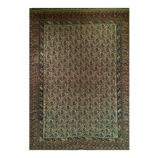 Late 19th Century Antique Persian Tribal Rug - 4′2″ × 5′7″ For Sale